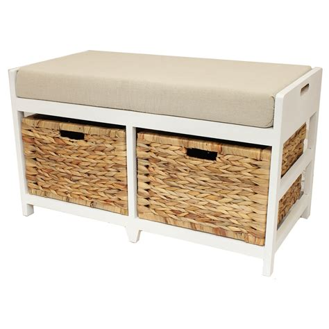 bench with storage bathroom storage bench with drawer