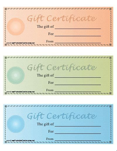 The 25 Best Free Printable Gift Certificates Ideas On Pinterest Printable Gift Certificates Printable Gift Certificate Template