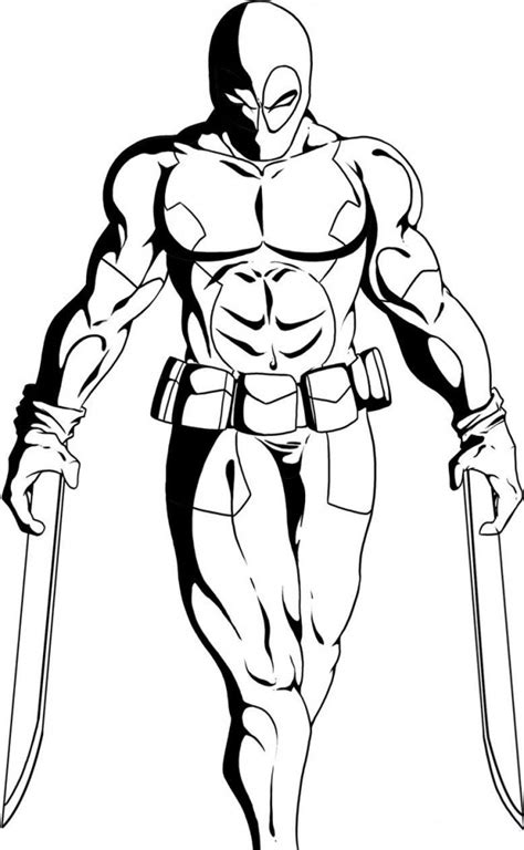 coloring pages for wolverine free deadpool coloring pages with weapons