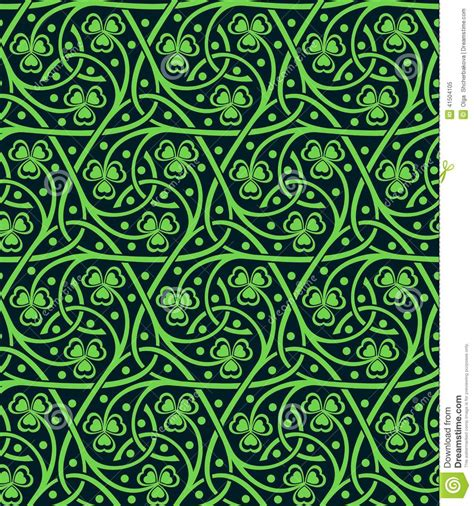 ornamental seamless pattern vector seamless pattern with shamrock stock vector image 41504105