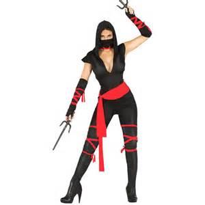 Disfraz de ninja negro mujer disfraces fleppy