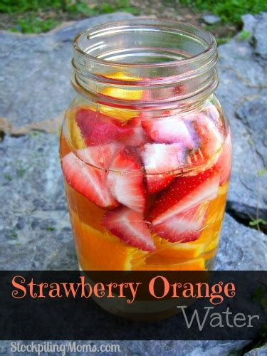 Strawberry Orange Detox Water strawberry orange water