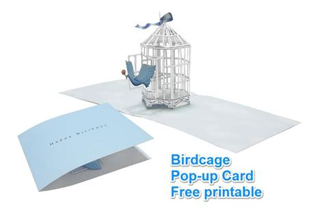 birdcage card template 114 best diy pop up cadrs images on