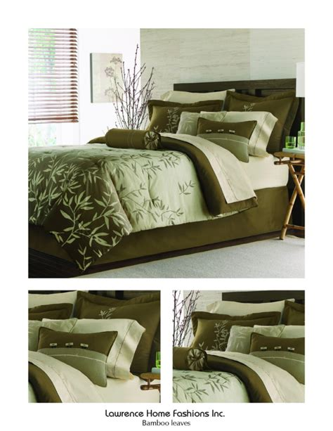 lawrence home fashions bamboo leaves 4pc comforter set ebay
