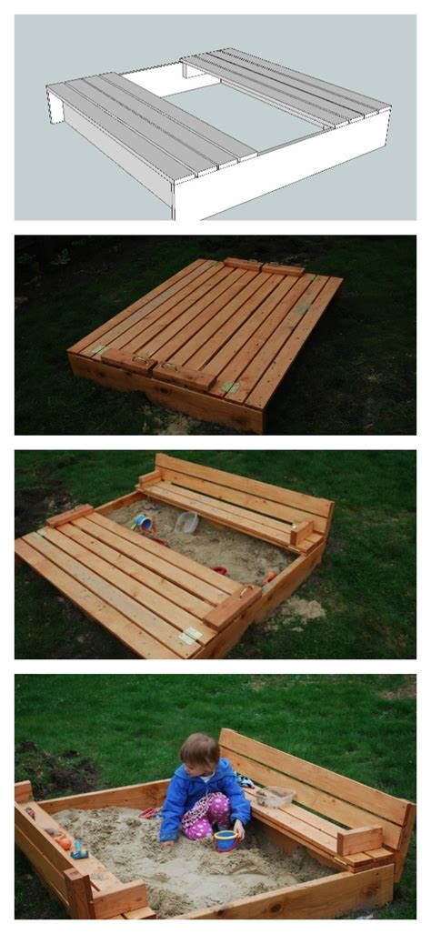 bench sandbox plans ana white sand box with built in seats diy projects