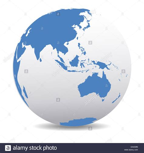 australia globe map asia malaysia australia world earth icon globe map stock
