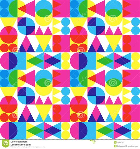 pattern shapes pictures retro transparent shapes pattern stock vector