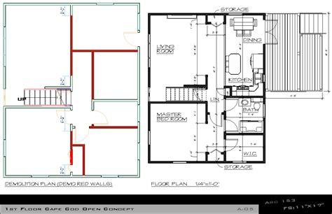 cape cod plans open floor arcbazar com viewdesignerproject projectentire floor