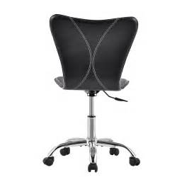Modern Armless Desk Chair Modern Mid Back Computer Desk Task Office Chair Armless