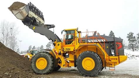 big volvo lh wheelloader  tested youtube