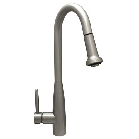 brushed nickel single handle kitchen faucet whitehaus collection jem collection single handle pull