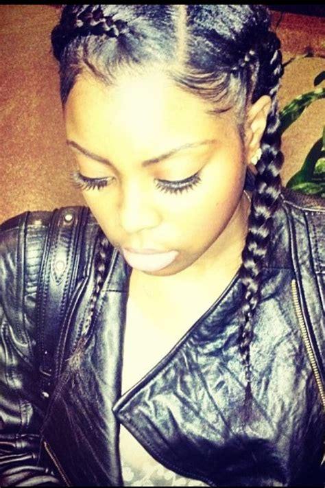 2 french braids with side part black hairstyles human hair extensions from 29 bundle www sinavirginhair