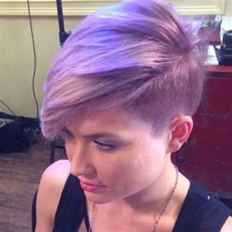 lilac short hair color  great   makeup