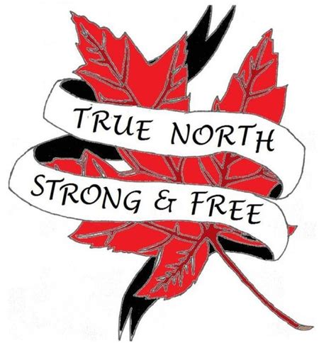 true north tattoo canadian true strong free canadian