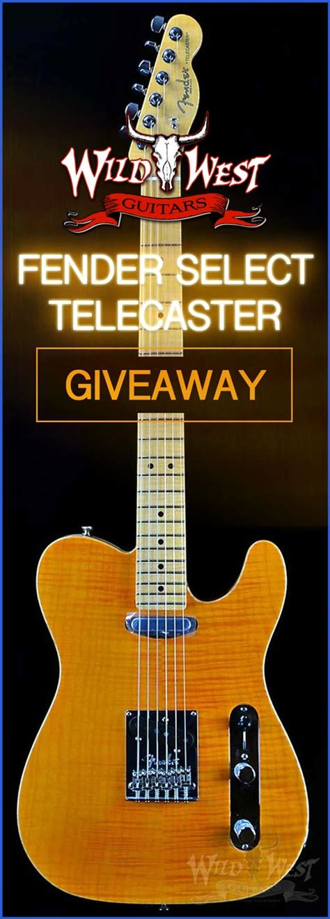 Fender Guitar Giveaway - win a fender select amber telecaster wild west guitars