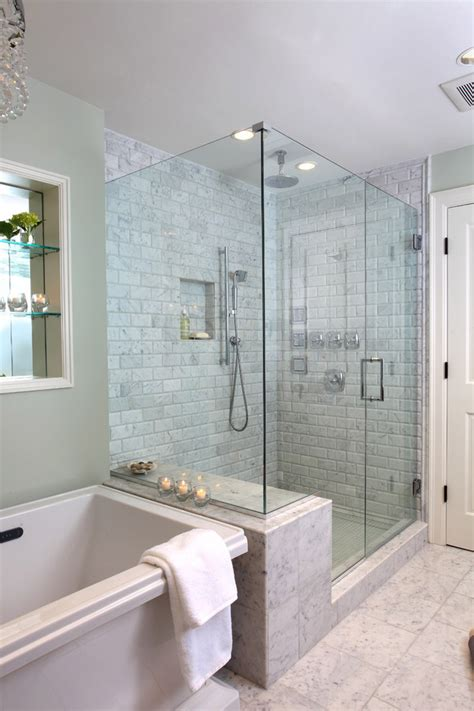 Glass Bathroom Tile Ideas by Tile Showers Ideas Bathroom Contemporary With Basin Set
