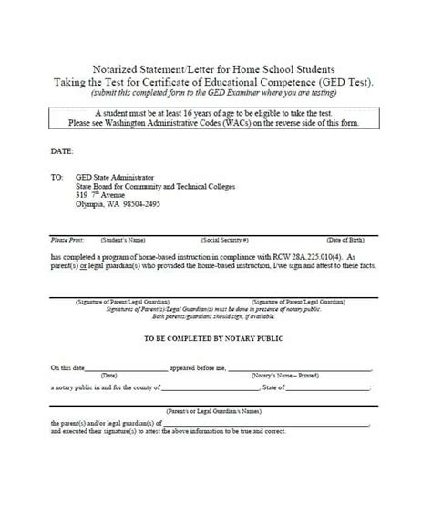 Lease Notarized Letter 30 Professional Notarized Letter Templates Template Lab