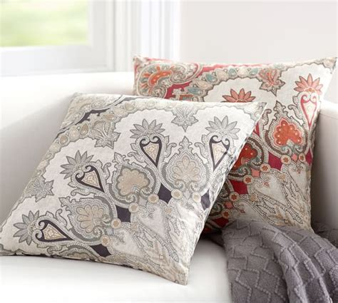 pottery barn bed pillows valencia paisley pillow cover pottery barn