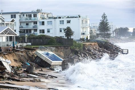 Sydney Storm Pushes Houses In Collaroy To The Brink Of Collaroy House