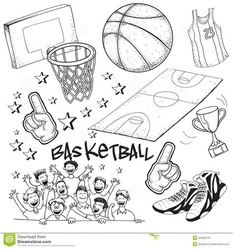 doodle contest paper basketball stock vector image of drawing equipment