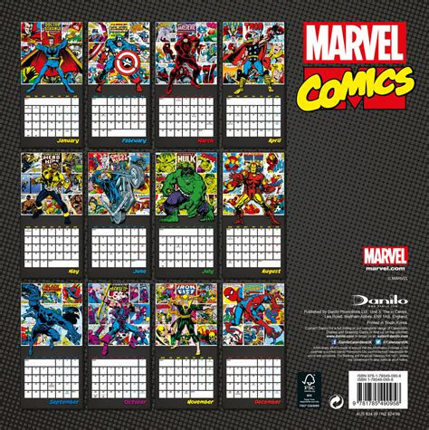 marvel schedule marvel comics calendars 2018 on europosters