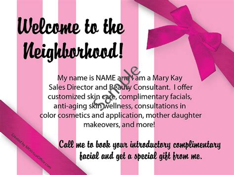 Flyer And Postcard Design Mk Virtual Office Welcome To The Neighborhood Letter Template