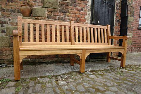 handmade wooden garden benches oak garden benches hand made in the united kingdom