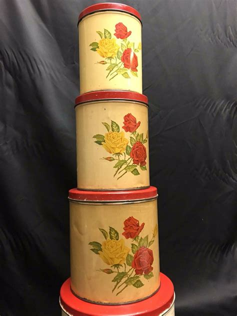 vintage kitchen canister sets 1952 vintage kitchen canister set gsw