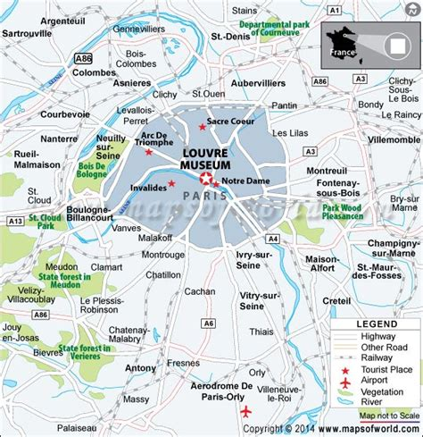 where is the museum louvre museum at map facts location