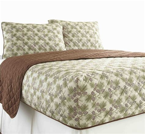 Quilted Fitted Bedspread by Micro Flannel Rv Quilted Fitted Bedspread Pinecone
