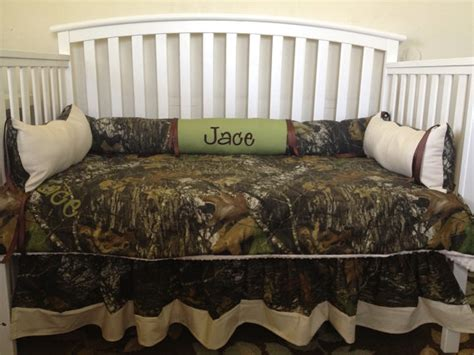 camo crib bedding camo mossy oak and sage and ivory 4 pc crib bedding set with