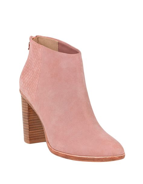 pink ankle boots ted baker lorcan nubuck ankle boots in pink lyst