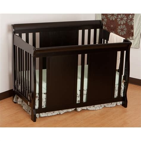 verona fixed side 4 in 1 convertible crib in black 04587 48b