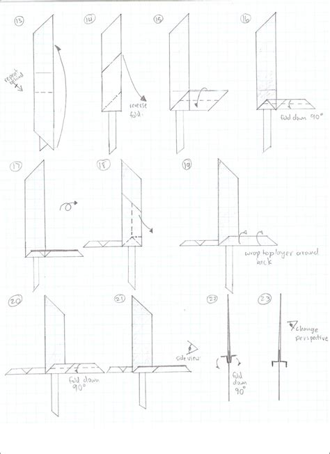 How To Make Origami Sword Step By Step - buster sword 2 by cahoonas on deviantart
