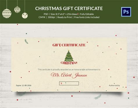 gift certificate photoshop template 17 gift certificate templates printable psd