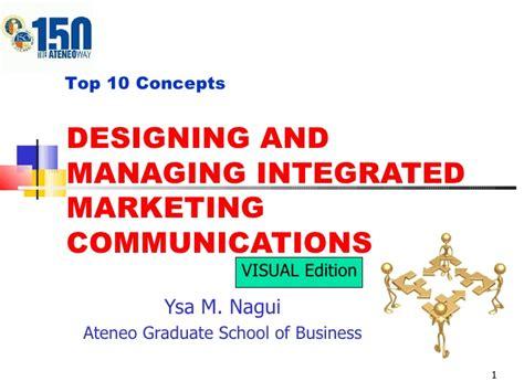 Integrated Marketing Communication Mba Syllabus by V47 Ch17 Marketing Comm Visual Edition Ysa Nagui
