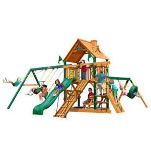 home depot swing set gorilla playsets frontier with timber shield cedar playset