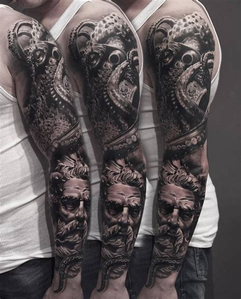 octopus sleeve tattoo 1000 ideas about octopus sleeve on