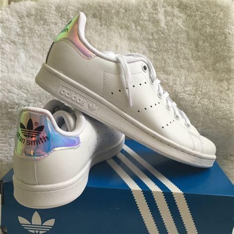 adidas shoes stan smith metallic iridescent heels poshmark