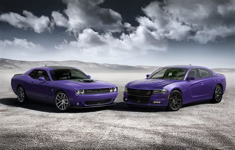 purple charger car 2016 dodge challenger and charger go plum