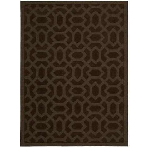 rugs overstock nourison overstock barcelona espresso 7 ft 9 in x 9 ft 9 in area rug 090645 the home depot