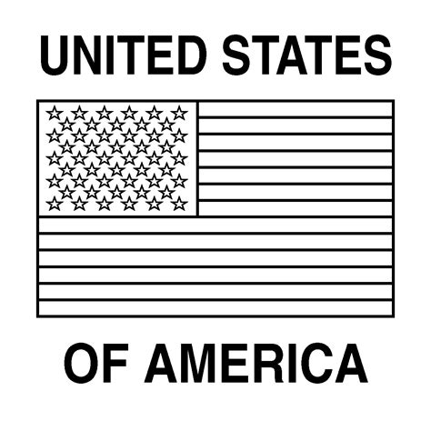 coloring page for united states flag clip art flags united states color abcteach