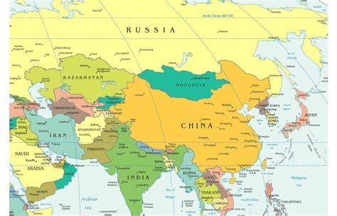 map of central and south asia emergenti asia crescita in vista nel secondo semestre