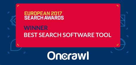 Best Search Program Oncrawl Won Best Search Software Tool Award