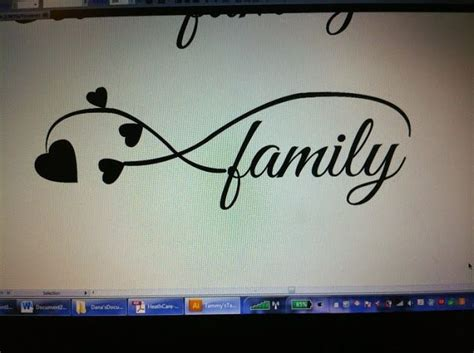 tattoo unendlichkeitszeichen family love family tattoo i created for a friend she wanted family