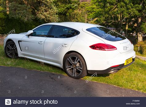 porsche white panamera porsche panamera car white side and back end sports