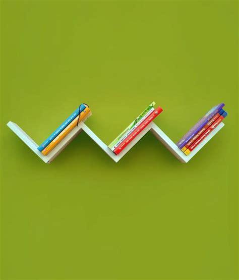 w shaped floating wall shelf in white buy w shaped