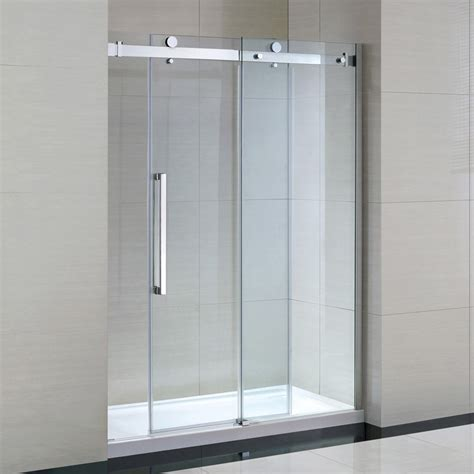 shower glass doors ove decors 15ska sier60 001wm 60 inch tempered clear glass shower kit with glass panels