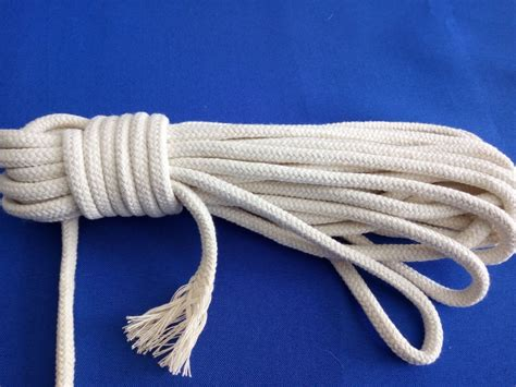 6mm Braided Rope - soft hollow braid white cotton rope halyard rope 6mm buy