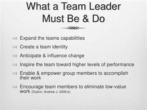 team leadership mossy resources